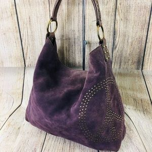 Lucky Brand suede leather hobo purse satchel